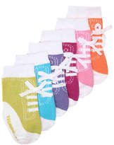 Trumpette Girls Jennys Infant Ankle Socks - 6 Pack -Multicolor