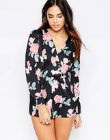 Oh My Love Wrap Over Romper
