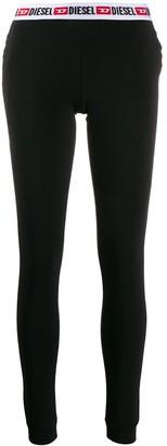 Diesel logo waistband trousers