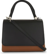 Max Mara Leather front flap tote