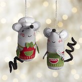 Crate & Barrel Baking Mouse with Apron Ornaments