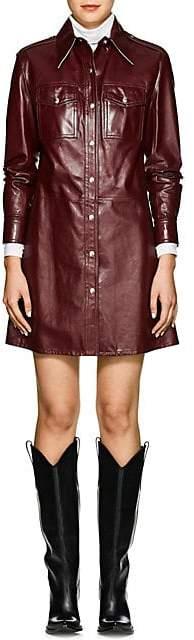 Calvin Klein Women's Leather Shirtdress - Mulberry