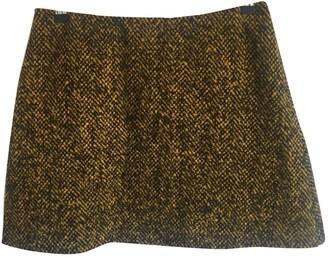Marni Yellow Wool Skirt for Women