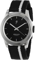 Johan Eric Men's JE1400-04-007 Naestved /Silver Striped Canvas Watch