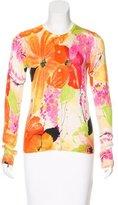 Trina Turk Floral Silk & Cashmere Cardigan