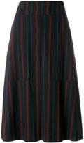 See by Chloe pinstriped midi skirt - women - Polyester/Spandex/Elastane/Viscose - 36