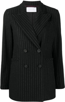 Harris Wharf London Pinstripe Double-Breasted Blazer