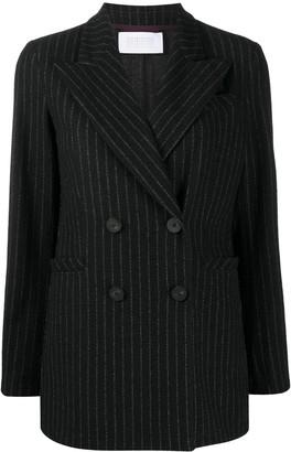 Harris Wharf London Pinstripe Double-Breasted Blazer