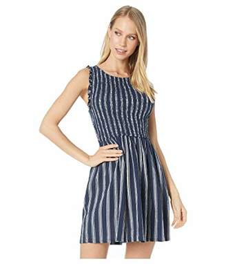 BB Dakota Women's You can jive Stripe Smocked Dress
