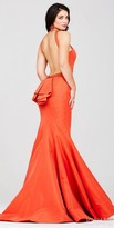 Jovani Embellished Ruffle Open Back Prom Dress