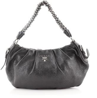 Prada Lux Chain Strap Hobo Cervo Leather Small