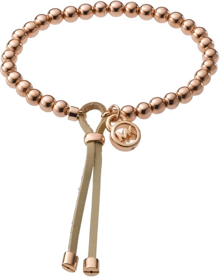 Michael Kors Bead Stretch Bracelet, Rose Golden