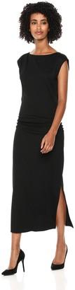 Theory Women's Cap Sleeve Minimal Ruched Sheath Dress