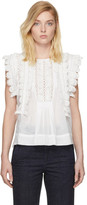 Isabel Marant White Nandy Blouse