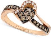 LeVian Le Vian Chocolatier® Diamond Ring (1/3 ct. t.w.) in 14k Rose Gold