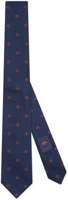 Gucci Bees jacquard silk tie