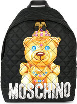 Moschino Bear logo padded backpack
