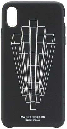 Marcelo Burlon County of Milan graphic logo print iPhone XS MAX case