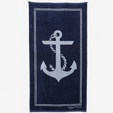 Nautica Ship Ahoy Jacquard Beach Towel