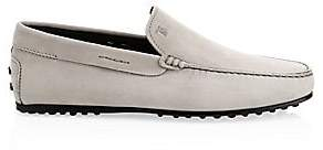Tod's Men's Pantofola City Suede Driving Loafers