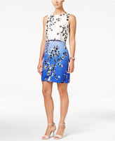 Ivanka Trump Sleeveless Floral-Print Popover Dress