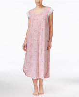 Charter Club Lace-Trimmed Floral-Print Nightgown, Only at Macy's