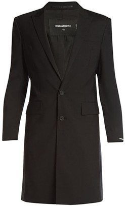 DSQUARED2 Berlin Side Zip Stretch Wool Coat