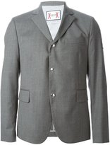 Moncler Gamme Bleu three button blazer - men - Cotton/Cupro/Virgin Wool - 2