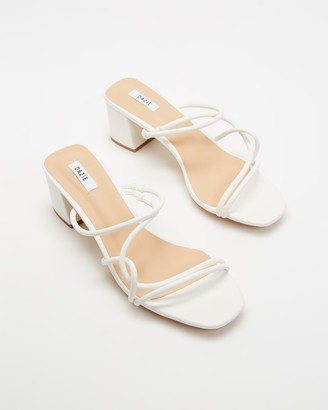 Dazie - Women's White Strappy sandals - Ravello Heels - Size 5 at The Iconic