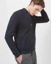 Ted Baker Quilted Jersey Bomber Jacket Navy