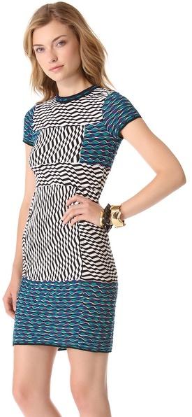 M Missoni Striped Circle Wave Dress