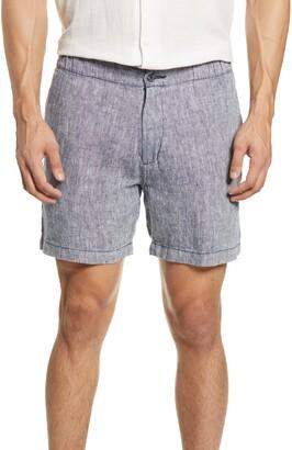 Onia Moe Slub Linen Chambray Shorts