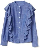 Gap Ruffle cascade shirt