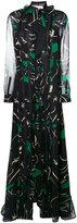 Valentino panther print gown - women - Silk/Cotton/Polyamide - 42