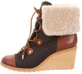 Tory Burch Flannel Wedge Ankle Boots