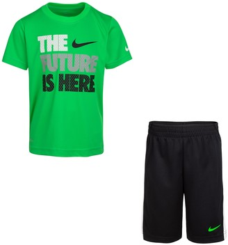 """Nike Boys 4-7 """"Your Future Is Here"""" Graphic Tee & Shorts Set"""