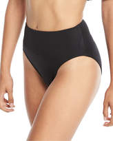 Norma Kamali High-Rise Full-Seat Underwire Swim Bikini Bottom