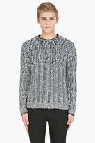 Marc by Marc Jacobs Navy & White Knit Emmitt Sweater