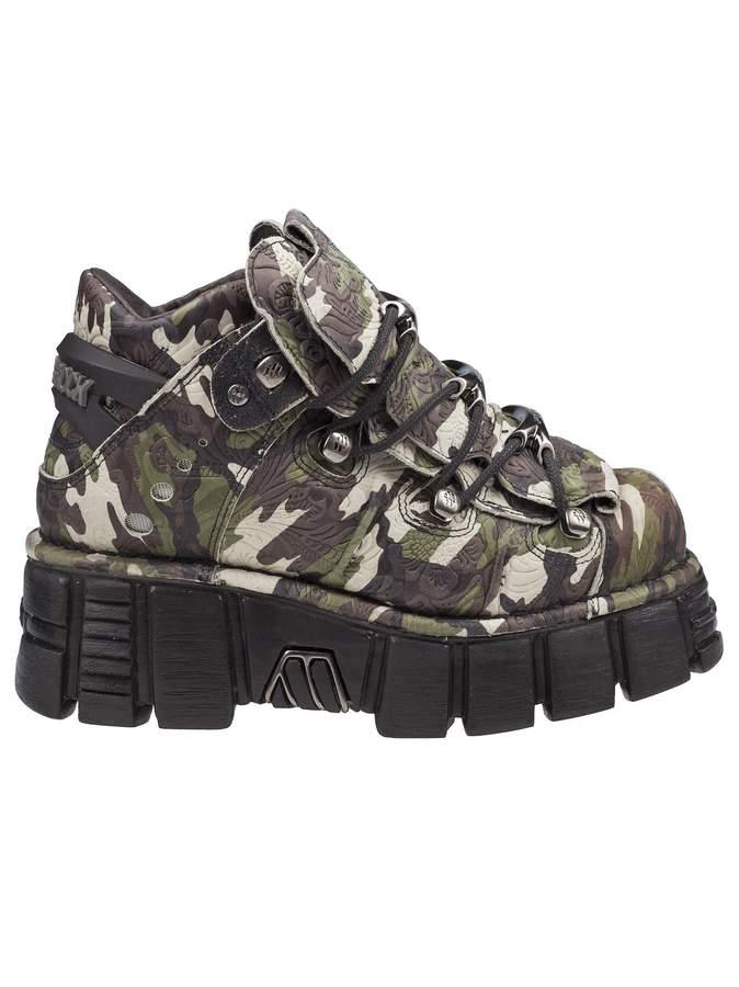 New Rock Camouflage Platform Sneakers