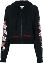 Off-White Global Warming blossom hoodie - women - Cotton/Polyester/Spandex/Elastane - S