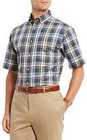 Daniel Cremieux Signature Pinpoint Plaid Short-Sleeve Woven Shirt