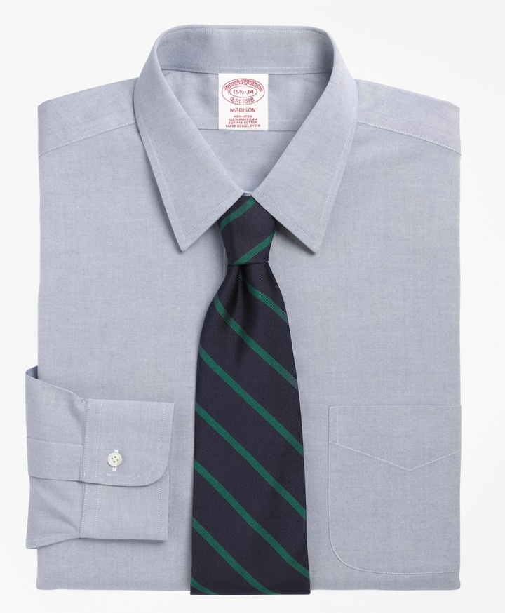 Brooks Brothers Madison Classic-Fit Dress Shirt, Non-Iron Point Collar