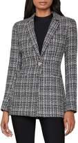 BCBGMAXAZRIA Tweed Long-Sleeve Blazer