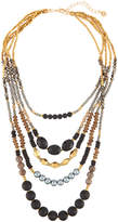 Nakamol Mixed Stone Multilayer Necklace