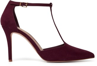 Forever New Alyssa T-Bar Pointed Court Heels - Berry - 41