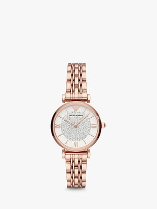 Emporio Armani Women's Crystal Bracelet Strap Watch