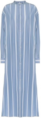 Jil Sander Striped cotton maxi shirt dress