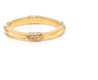 Coco Mango Jewellery Luxe 18K Gold Topaz Farah Ring