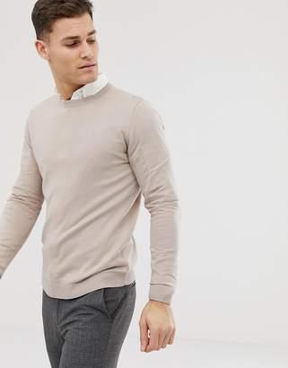 Asos Design DESIGN cotton sweater in beige-Tan