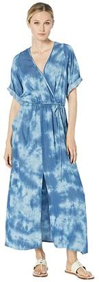 Karen Kane Cuffed Sleeve Dress (Tie-Dye) Women's Clothing